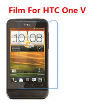 5 Pcs Ultra Thin Clear HD LCD Screen Guard Protector Film With Cleaning Cloth Film For HTC One V T320E G24.(China)