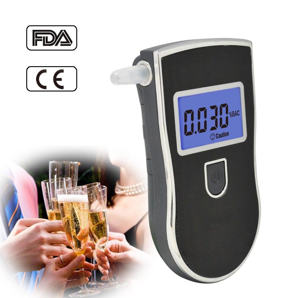 AT-818 pantalla grande probador de Alcohol portátil profesional de la policía de respiración Digital alkoholtester transpirador AT818 Detector 2019nuevo