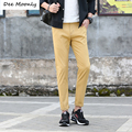 2017 Luxury Brand Straight Casual Men Ankle Pants High Quality Designer Spring Autumn Elegant Male Leisure Ankle Trousers