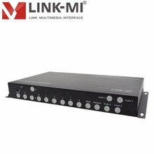 LINK-MI LM-TS71 Quad HD de Vídeo Multi-Viewer 1 xVGA 2xDP 4 2xhdmi Com PIP POP Quad HDMI sinal de Vídeo processador de Vídeo switcher 8×1