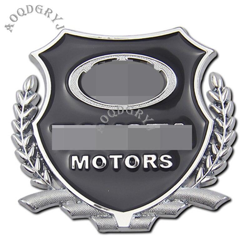 2PCS For Mercedes-Benz Emblem Badge Crest Fender Side Metal Decals Sticker New