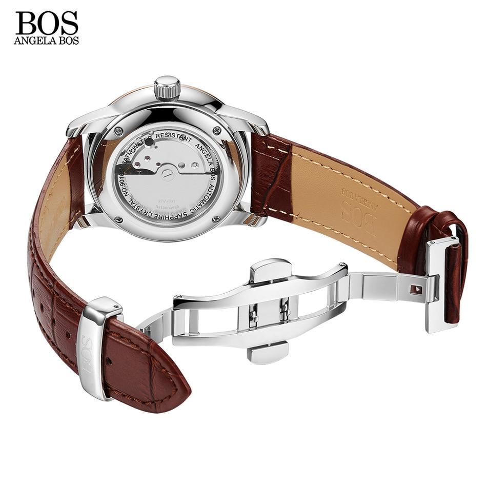 안젤라 보스 비즈니스 셀프 윈드 자동 시계 남자 - 남성 시계 - 사진 6