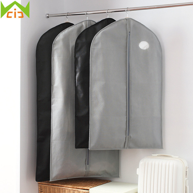 Gentil WCIC Dustproof Clothing Cover Non Woven Dress Protector Coat Dust Covers  Garment Suit Dust Bag Wardrobe