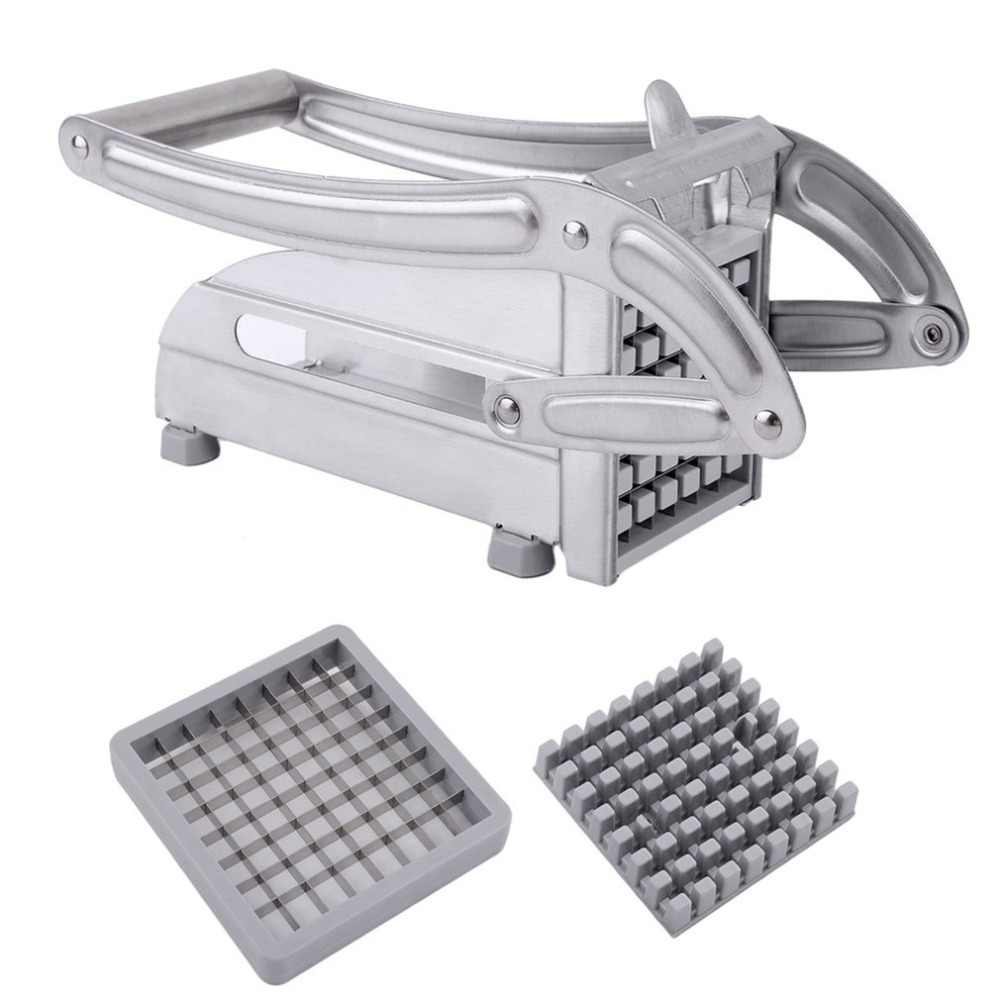 Roestvrij Staal Handmatige Frieten Snijmachine Aardappel Chipper Chip Cutter Chopper Maker Chips Making Machine
