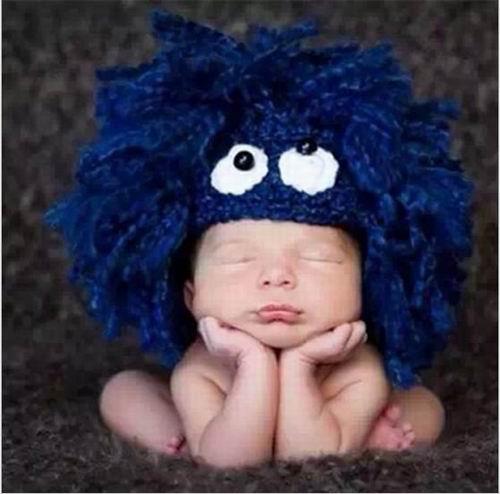 Envío Libre Azul Marino Sombrero Recién Nacido Del Bebé Hecho A Mano ...