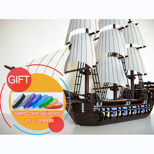 New bricks 22001 Pirate Ship Imperial warships Model Building Kits Block Briks Gift 1717pcs Compatible 10210Toys lepin hot classic movie pirates of the caribbean imperial warships building block model mini army figures lepins bricks 10210 toys