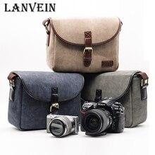 LANVEIN Professional Photo Bag canvas Digital Shoulder DSLR Camera Bag Travel camera backpack for sony nikon Canon camera