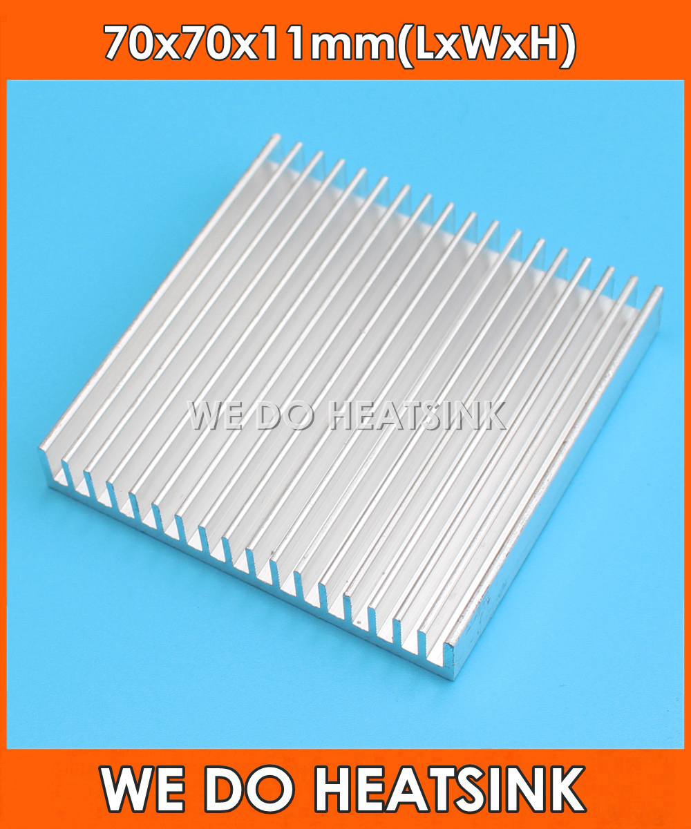 WE DO HEATSINK 70*70*11mm Radiator Aluminum Heatsink Extruded Heat Sink for LED Electronic Integrated Circuit Cooler Cooling high power pure copper heatsink 200x80x20mm skiving fin heat sink radiator for electronic chip led cooling cooler