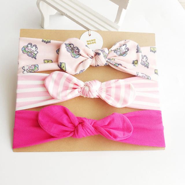 3pcs/Set Newborn Baby Headband Lovely Rabbit Ears Bowknot Hair Bands Mix Styles Headwear Kids Girls Children Hair Accessories
