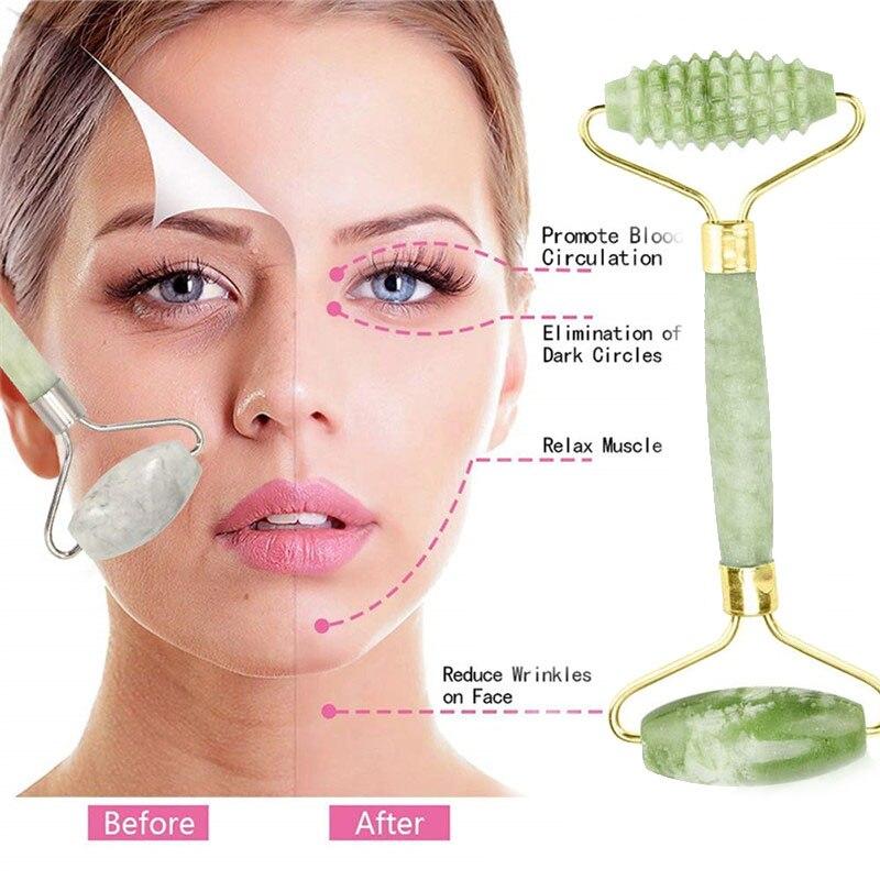 Anti-Aging Natural Jade Gesichtsroller Für Gesicht Und Gua Sha Massage Werkzeug
