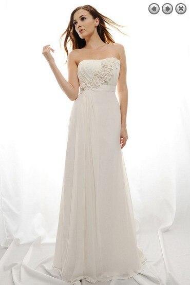 free shipping maxi custom 2018 vestidos formal new fashion white long plus size brides party gowns Graduation   bridesmaid     dresses