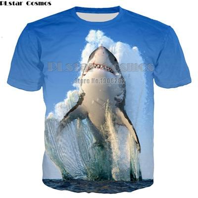 PLstar Cosmos New Moive Megalodon T-shirt Man Women 3D print Shirt O-Neck Short Sleeve T Shirt Plus size XS-7XL
