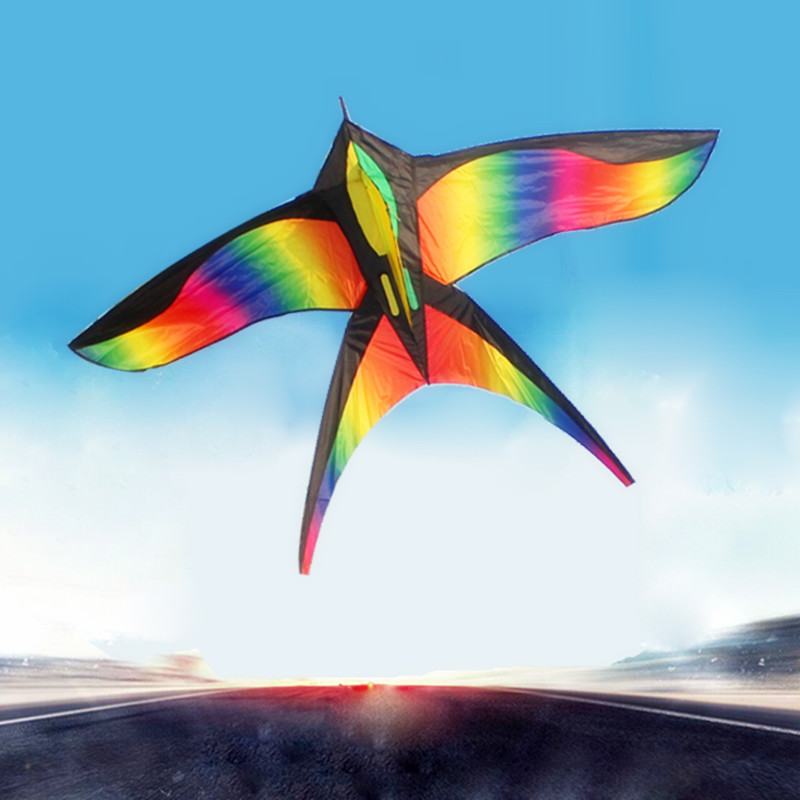 172CM-Colorful-Swallow-Kite-Beautiful-Rainbow-Kite-Color-Bird-Kites-Easy-Control-Flying-With-Handle-Line-Children-Present-Gift-2
