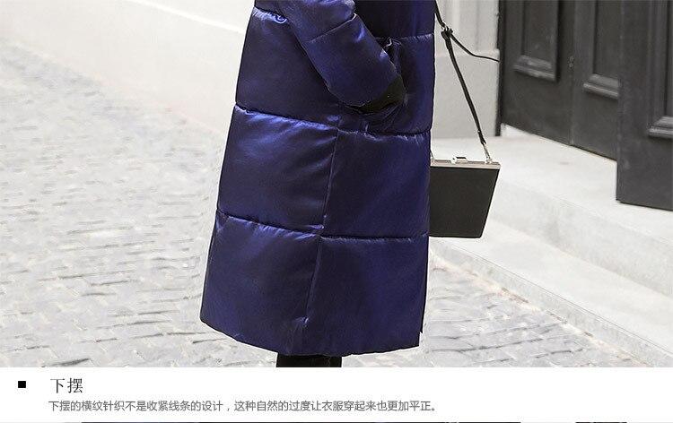gris bleu Épaississement Cheveux noir Vêtements À Nouveau Royal Coton Coton See Hiver Long Vente Bas A Lâche Qui Le Velours Pain Rembourré Lourds Chart Chaude Vers De rembourré Veste wqCvpWxFP
