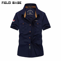 새로운 패션 폴로 셔츠 남성 캐주얼 셔츠 군사 여름 셔츠 남성 브랜드 의류 짧은 소매 20186A