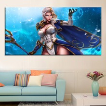 Jaina Proudmoore World-of Warcraft Battle Painting On Canvas Print Type And The Wall Decor Artwork 1 Panel Style Large Poster