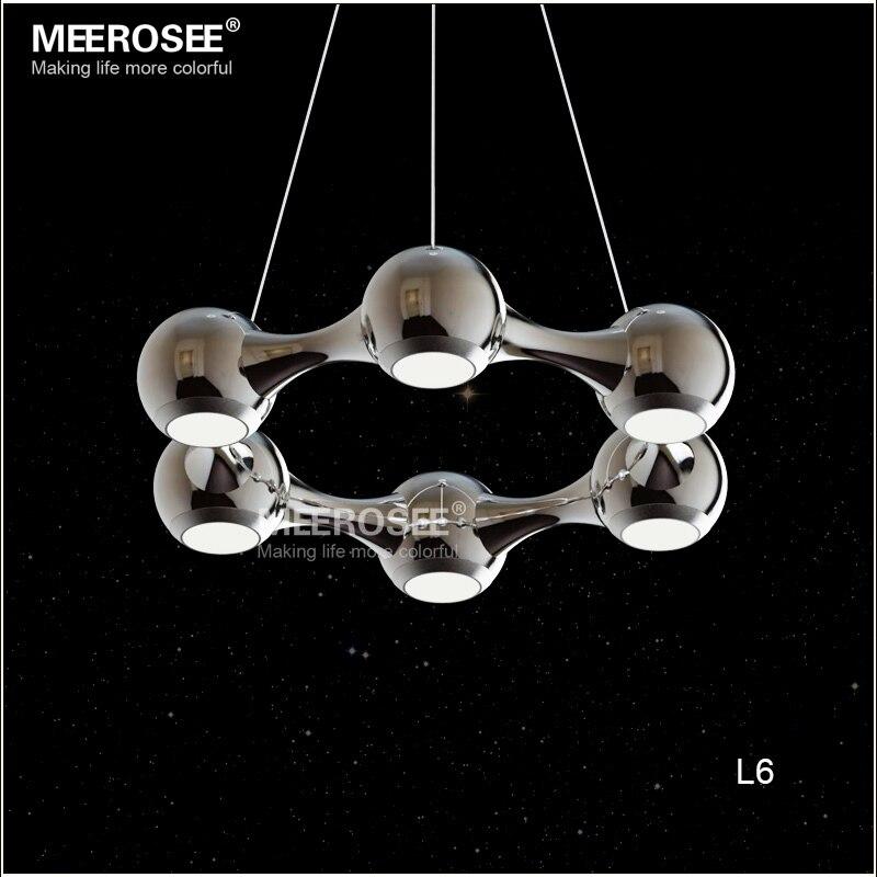 modern led pendant lights led circle suspension hanging lamp meerosee lighting led light fixture russian free