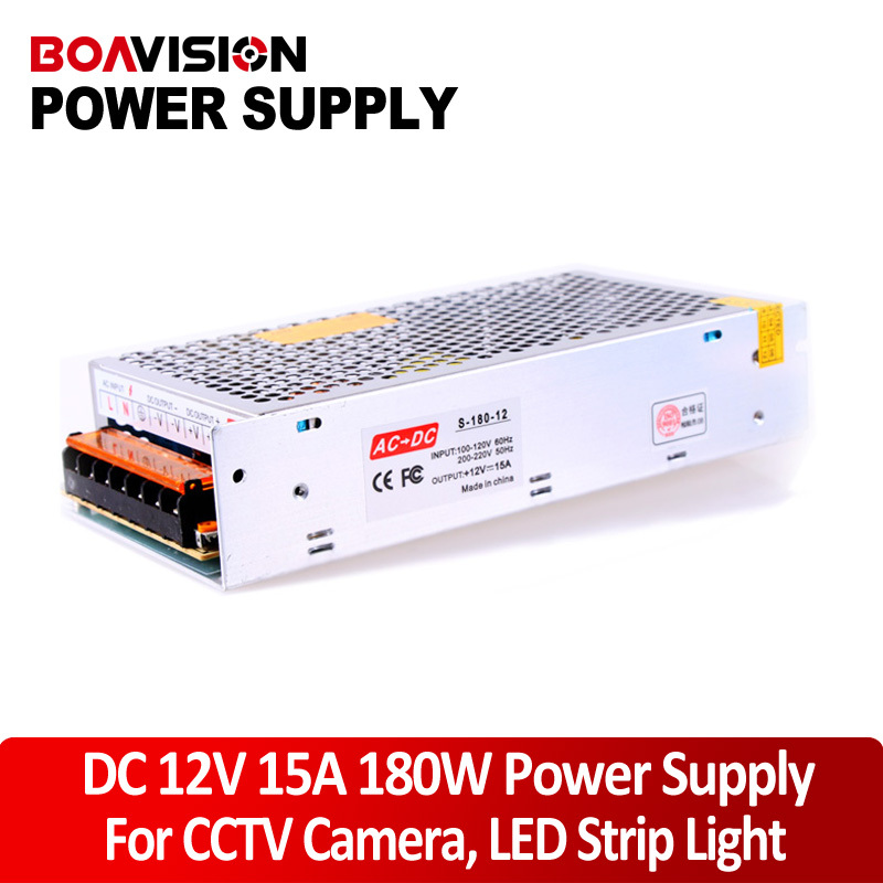 Switching Power Supply 180W 12V 15A For LED Strip light / cctv power adapter chargerpower supply for the camera autoeye cctv camera power adapter dc12v 1a 2a 3a 5a ahd camera power supply eu us uk au plug