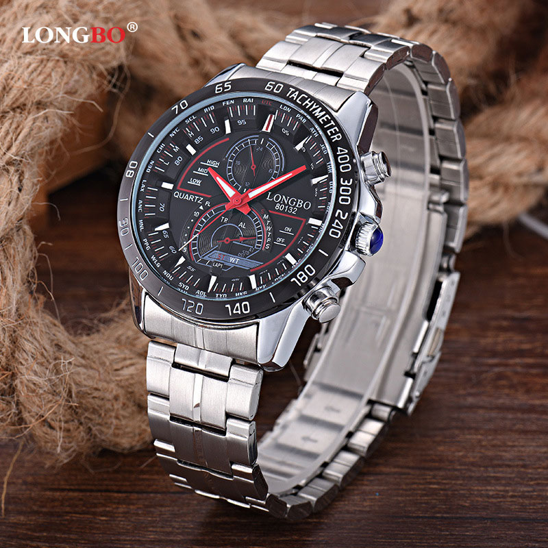 LONGBO Wristwatch 2018 Quartz Watch Men Watches Top Brand Luxury Steel Wrist Watch Male Clock for Man Hodinky Relogio Masculino chenxi men gold watch male stainless steel quartz golden men s wristwatches for man top brand luxury quartz watches gift clock