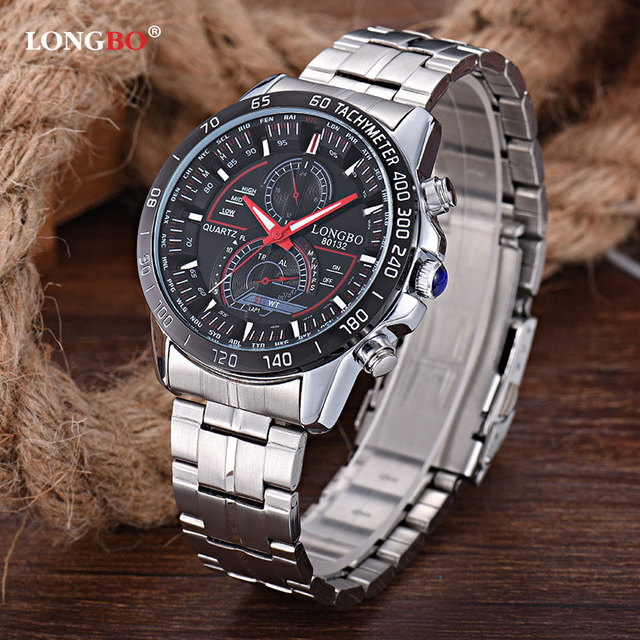 b65d34a3a34 LONGBO relógio de Pulso 2018 Relógio de Quartzo Dos Homens Relógios Top  Marca de Luxo Relogio