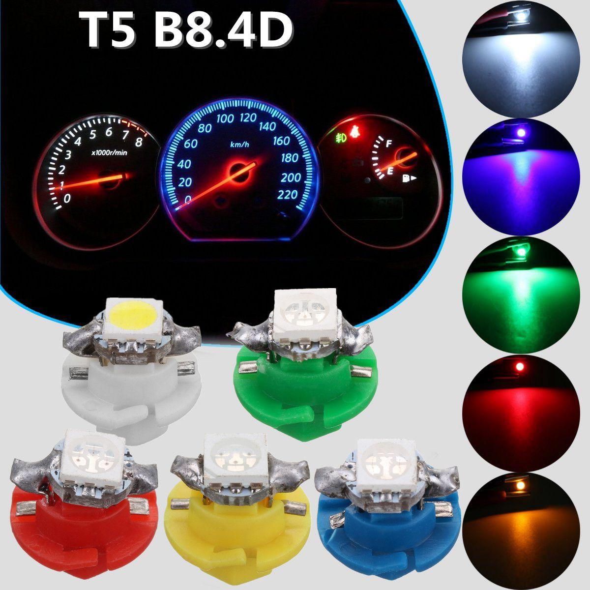 T5 B8.4D 5050 1SMD Car Dashboard Light Bulb Dash Gauge Indicator Lamps Instrument Lights