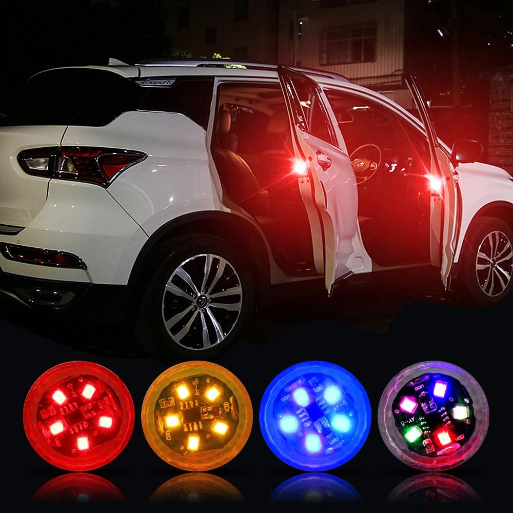 Wireless Magnetic Car Opening Door Warning Light LED Strobe Flashing Anti Rear-end Collinsion Indicator Lights Signal Lamp