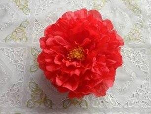 76 шт. искусственная ткань 12 слоев 16 см Открытый Пион цветок голова для Diy Ювелирные изделия Свадьба Рождество U выбрать цвет - Цвет: red