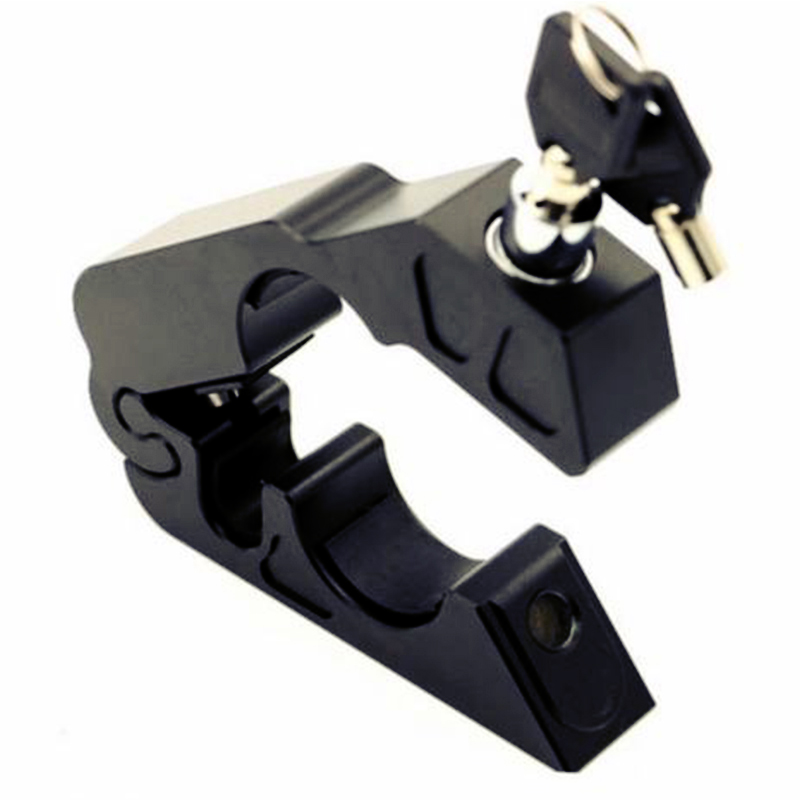 Motorcycle Handlebar Grip Brake Lever Throttle Security Lock CNC Aluminum Lock