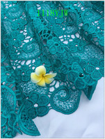 New Arrival High Quality Green Color African Cord Lace Fabrics African Mesh Cord Lace Guipure Lace