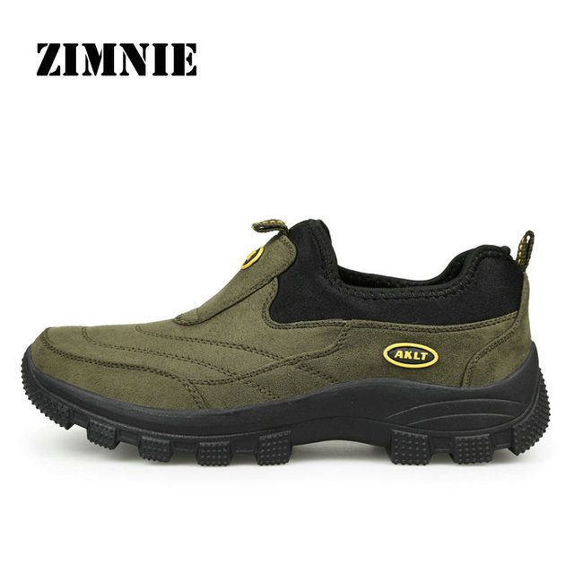 ZIMNIE 2018 New Men Outdoor Shoes High Quality Suede Shoes Athletic Sport Shoes For Men Outdoor Hiking Shoes Big Size 39-46