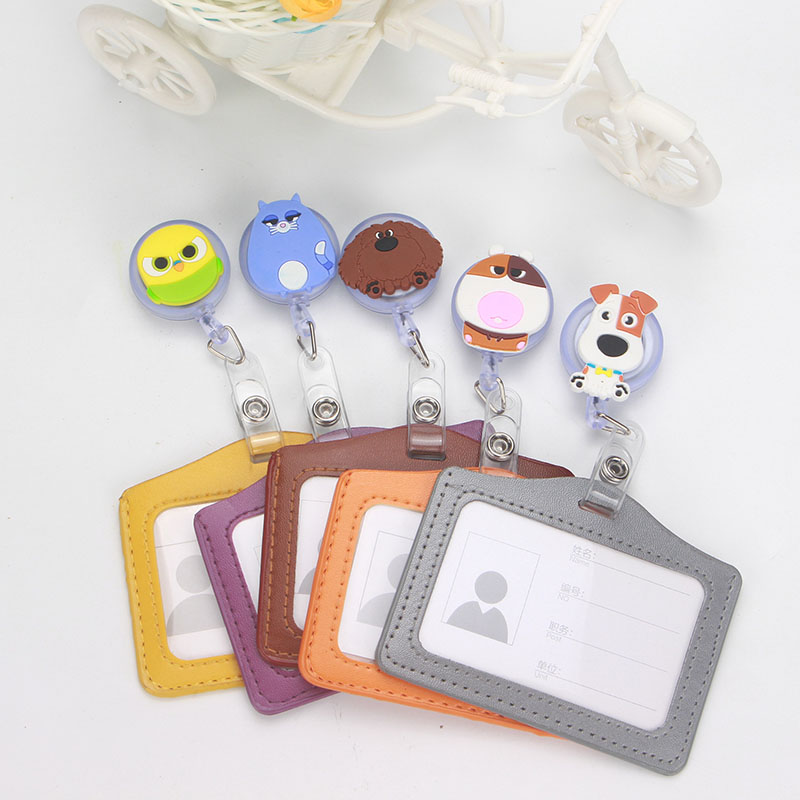 New Lovely Dog Rabbit Retractable Badge Reel Silicone Student Nurse Exihibiton ID Name Card Badge Holder Office Supplies K137