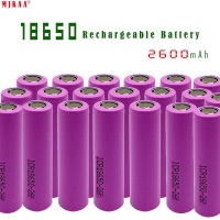 High Quality Icr18650 Lithium 2600mah 3.7 V Li ion Rechargeable Pkcell Flat Top Batteries for Samsung
