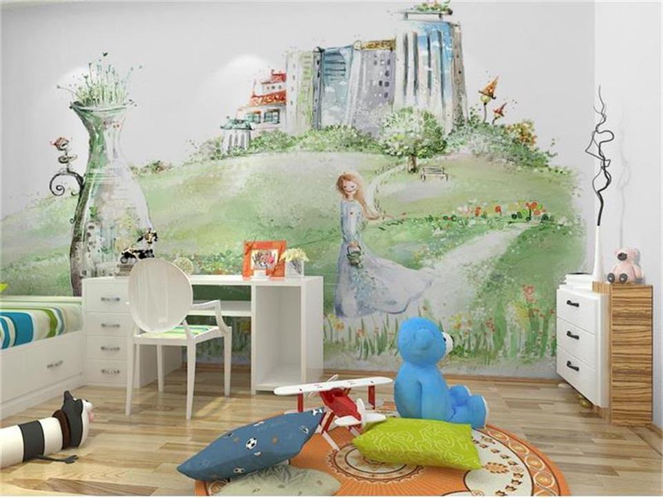korean mural background castle 3d dream living sofa forest painting custom tv wall