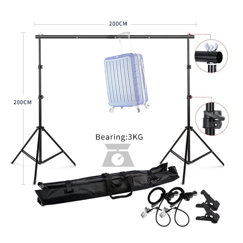 Photographie Studio Heavy Duty 2 m x 2 m Photo Studio Toile de Fond Fond Support Stand Kit