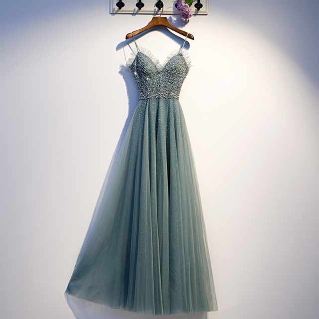 Tulle With Applique Beading Dress