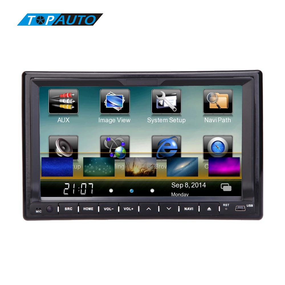 UK Clearance BIG SALE Car 7 Inch Touch Screen Double 2 Din Car DVD Player GPS Navigation In Dash Car PC Stereo Video Free Map блокада 2 dvd