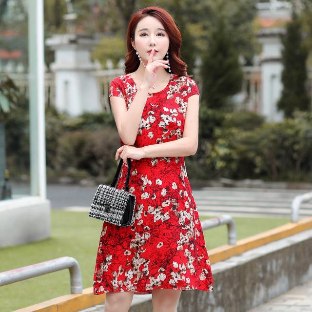 Elegant Summer A-Line Cotton Plus Size Dress