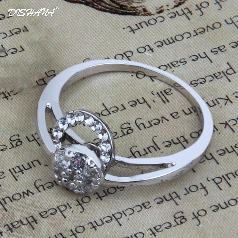 2018 Vintage Crystal Rings for Women Round Cute Party Aneis Feminino Gifts for Lovers Jewellery Ringen Female Silver Color