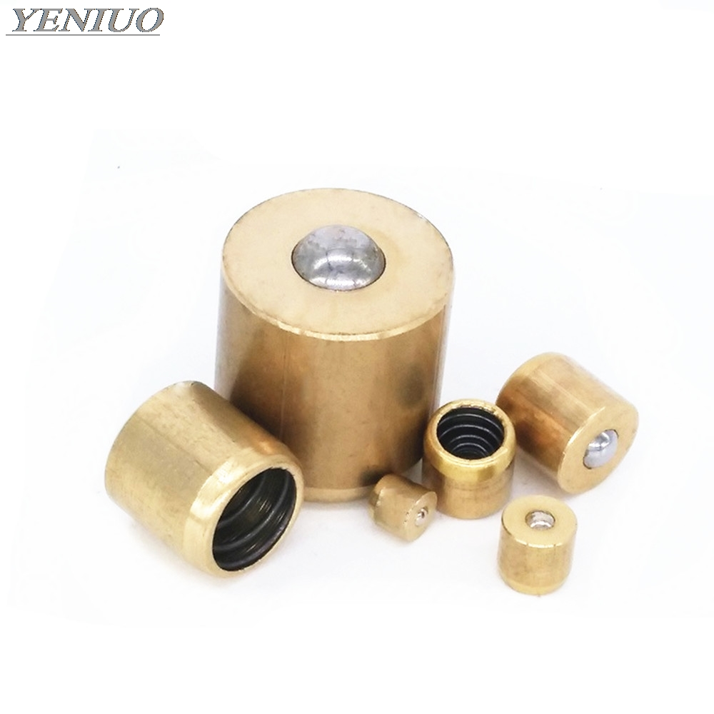 5pcs Brass Push Button Oiler Press Fit Ball Gas Engine Motor Hit&Miss Oil Grease Copper Billiard Cup Butter