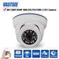 720P/960P AHD/TVI/CVI/CVBS CCTV camera 4 in 1 Cameras OV sensor plastic IR room dome indoor security cameras de seguranca