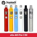 Оригинал Joyetech эго AIO Pro C электронная Сигарета Комплект с 4 мл Бака все-в-Одном Airflow Control Starter Kit Без батареи 18650 AIO pro C
