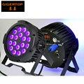 TIPTOP 10 x Профессиональная УФ-Ультрафиолетового Молчание Не Водонепроницаемый Led Par Легкие Алюминиевые 18x3 W Только Фиолетовый Blacklight PAR Банок