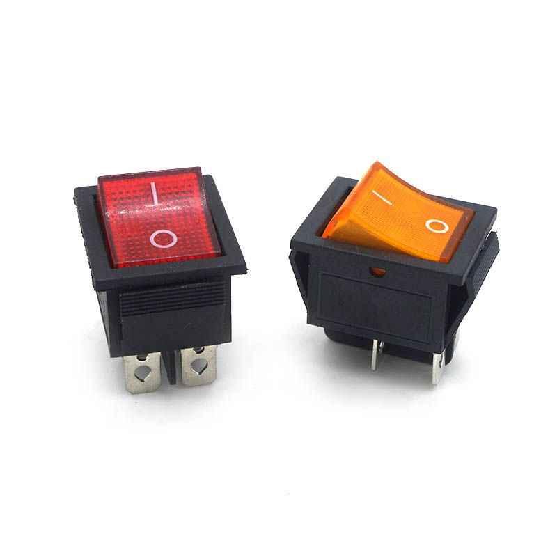KCD4 ラッチロッカースイッチの電源スイッチ I/O 4 ピンと 6 ピン光 16A 250VAC 20A 125VAC KCD4