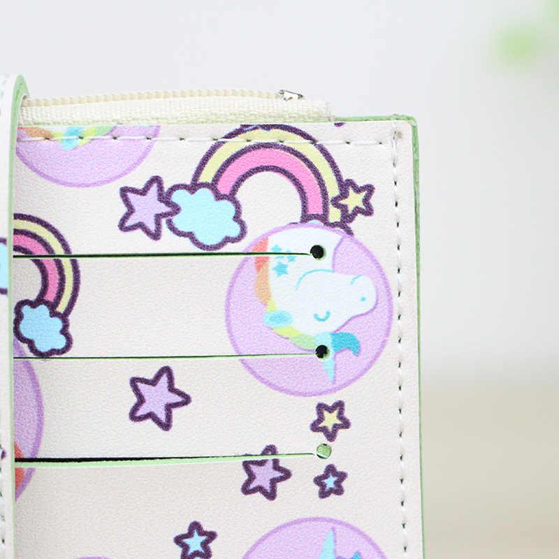 Katuner, новая модная детская одежда с героями мультфильмов Для Женщин Единорог брелок-Кошелек для монет с милым 6 Биты карман-держатель для карт для ключей мешок денег для девочек портмоне бумажник K05