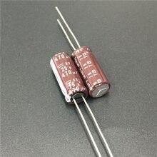 10 قطعة 470 فائق التوهج 25 فولت نيبون NCC KY Series 8x20 مللي متر مقاومة منخفضة ESR حياة طويلة 25V470uF ألومنيوم مُكثَّف كهربائيًا