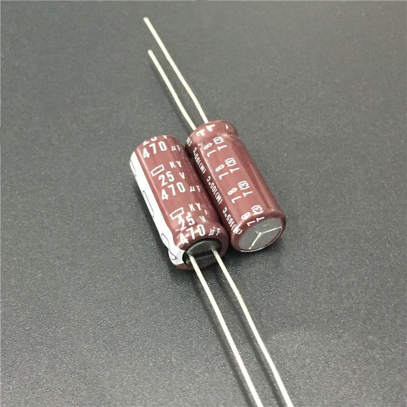 10 шт. 470 мкФ 25V NIPPON NCC серия KY 8x20 мм низкое сопротивление ESR длительный срок службы 25V470uF алюминиевый электролитический конденсатор|Конденсаторы|   | АлиЭкспресс