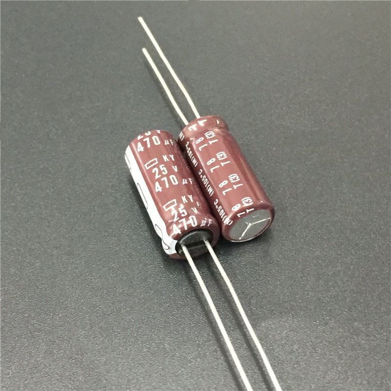 10pcs 470uF 25V NIPPON NCC KY Series 8x20mm Low Impedance ESR Long Life 25V470uF Aluminum Electrolytic Capacitor