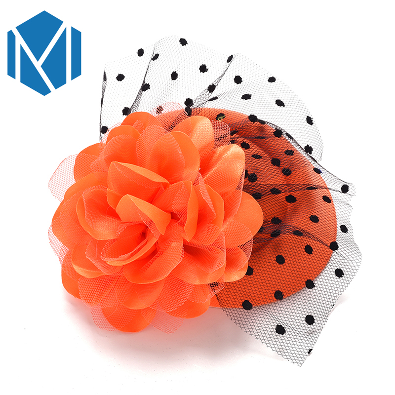 Girl's Accessories New Fashion Ribbon Flower Cute 5cm Party Cap Hairpins Festival Hat Hair Clip With Fur Children Hair Accessories Baby Hair Clip Complete In Specifications