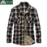Brand Flannel Plaid Shirt 2018 Spring Autumn Casual Long Sleeve Shirt Men 100 Cotton Camisa Masculina