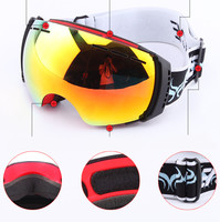 Free Shipping 2014 BENICEnewest Than Double Anti Fog Ski Goggles Ski Glasses Cocker Big Spherical Myopia